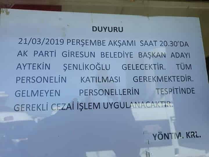 21 Mart sosyal medya paylaşımımız ve Ak Parti Giresun Belediye Başkan Adayı Aytekin Şenlikoğlu'nun açıklaması hakkında. 8