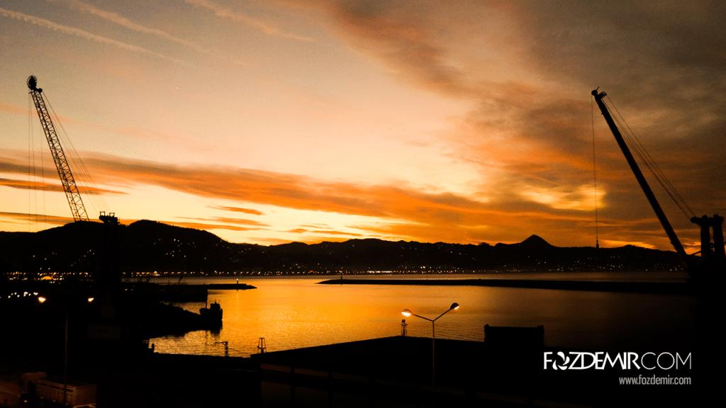 Giresun Limanı'ndan Günbatımı